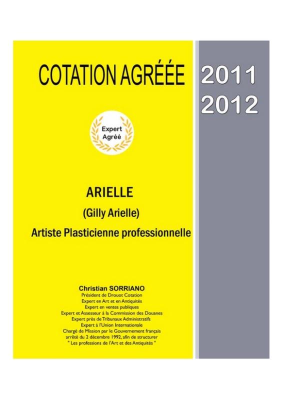 Arielle artiste peintre sa cotation for Cotation akoun